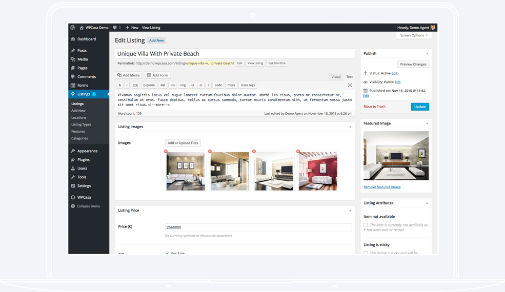 WPCasa | Intuitive Property Editor